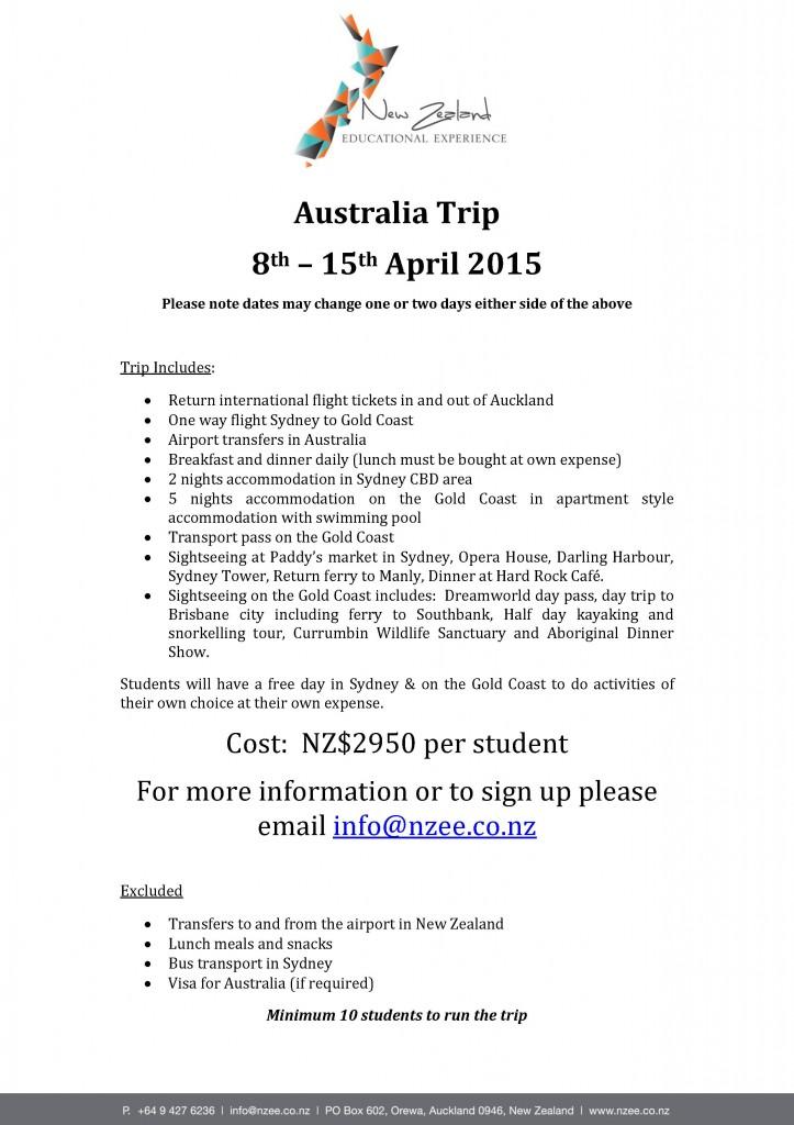 Australia Trip - April 2015