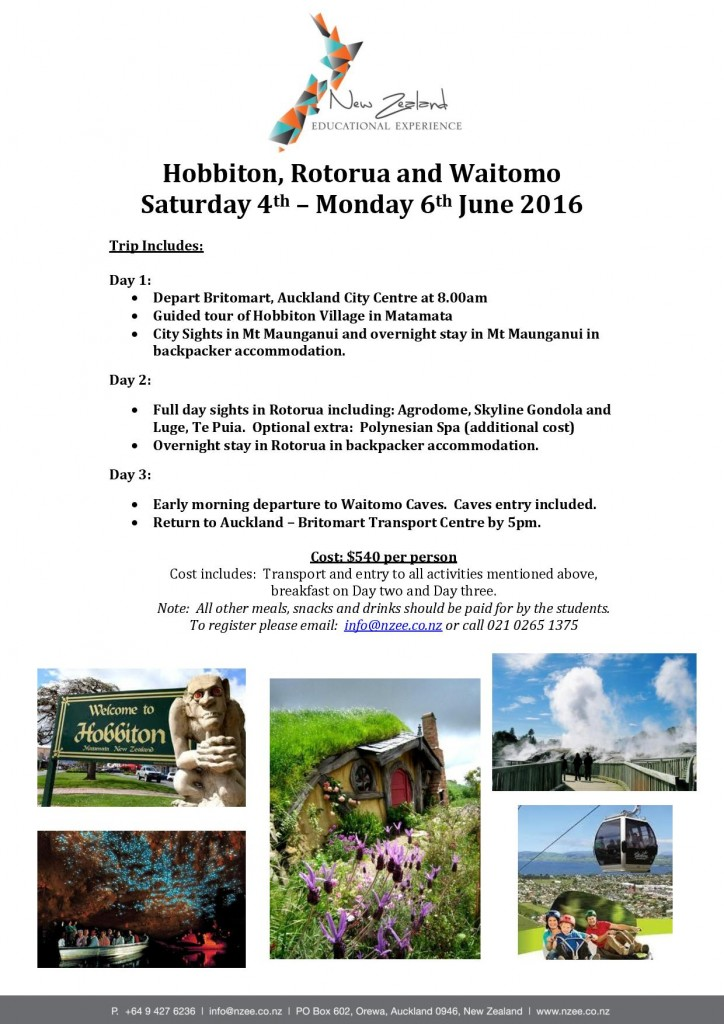 NZEE Trip Hobbiton, Rotorua and Waitomo 4th - 6th June 2016-page-001