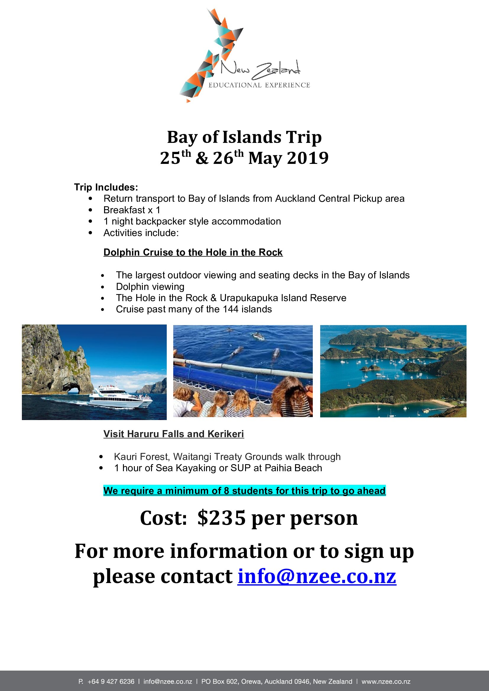 Bay of Islands Trip 25th & 26th May 2019